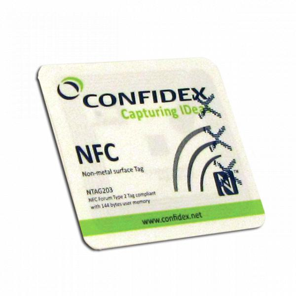 AcuTag Sticker MDM NFC White