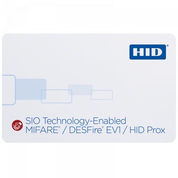 Cartão de Proximidade 38xx Habilitado por SIO MIFARE DESFire EV1 + Prox