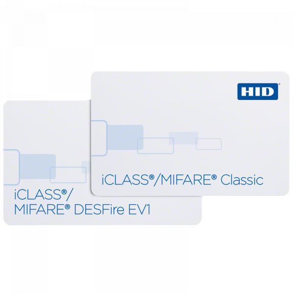 Cartão de Proximidade HID iCLASS® + MIFARE® Classic ou MIFARE® DESFire® EV1 232, 242 e 243